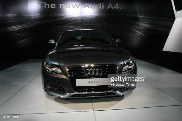 The new Audi A4 launched at 9th Auto Expo in the Capital on Wednesday