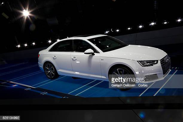 The new Audi A4 on display during the 66 Internationale AutomobilAusstellung 2015 in Frankfurt am Main Germany on September 16 2015