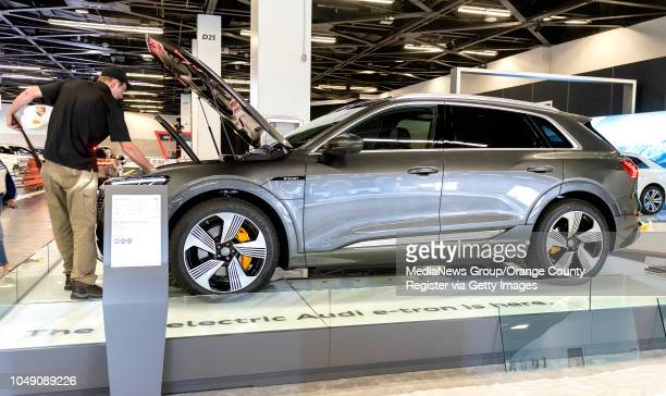 The new Audi etron 55 Quattro all electric car gets preped on Wednesday October 3 2018 in Anaheim in preparation for the start of the 2019model OC...