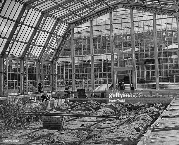 The new Australian House under construction at Kew Gardens London 13th August 1951
