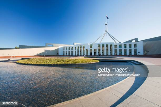 The new Australian parliament building in Canberra, Australia.