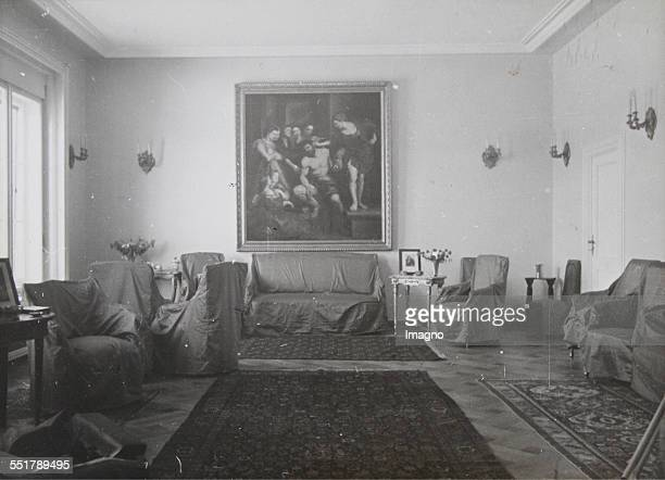 The new Austrian Embassy in Ankara based on a design by Clemens Holzmeister . Reception room of the embassy. 1935. Photograph by Baron von Kummer....