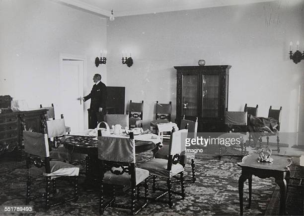 The new Austrian Embassy in Ankara based on a design by Clemens Holzmeister . Dining room and reception room of the embassy. 1934. Photograph by...