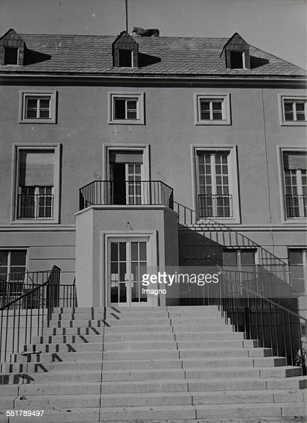 The new Austrian Embassy in Ankara based on a design by Clemens Holzmeister . Staircase to the main building. 1935. Photograph by Baron von Kummer....