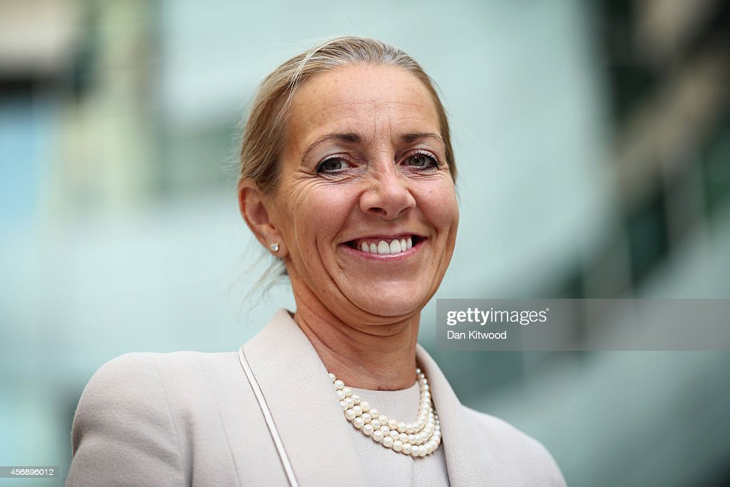 New BBC Trust Chairman Rona Fairhead Arrives For First Day At Work : News Photo