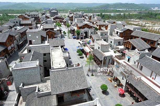 The new Beichuan town in southwest China's Sichuan province on April 30 rebuilt from scratch after the 80magnitude earthquake that hit the province...
