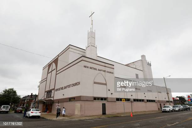 The New Bethel Baptist Church is shown August 16 2018 in Detroit Michigan Singer Aretha Franklin daughter of the late Rev CL Franklin who was a...