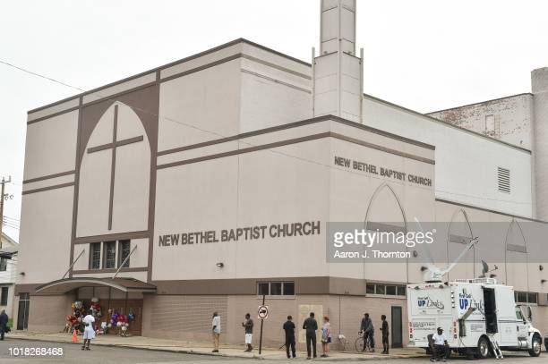 The New Bethel Baptist Church is shown August 17 2018 in Detroit Michigan Singer Aretha Franklin daughter of the late Rev CL Franklin who was a...