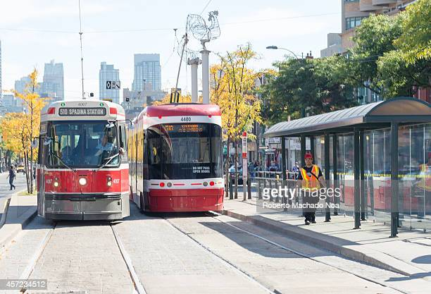 The new Bombardier Flexity Outlook Streetcars are already working in the Spidina route this route passes through Chinatown and is one of the busiest...