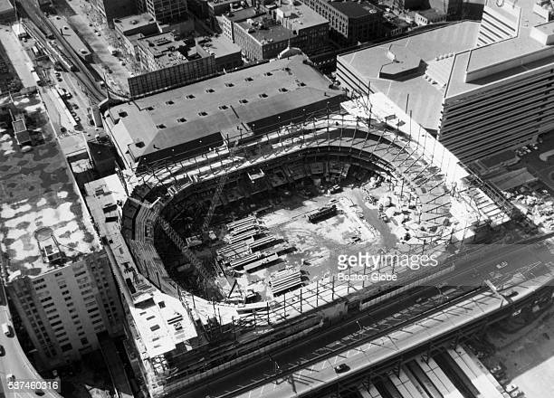 The new Boston Garden in under construction on top of the old one on May 11 1994 The $160 million arena will have more seating escalators and a $5...