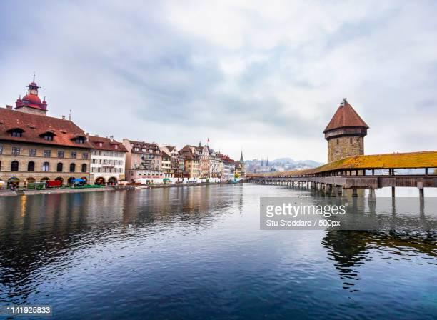 the new bridge - ルツェルン ストックフォトと画像