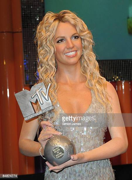 The new Britney Spears waxwork figure is unveiled at Madame Tussauds on February 16, 2009 in London, England.