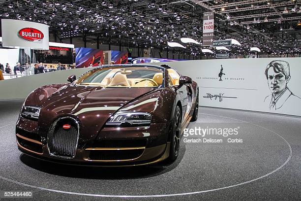 The new Bugatti Veyron 164 Grand Sport Vitesse Rembrandt revealed and on show at the 84th Geneva International Motor Show March 5th 2014
