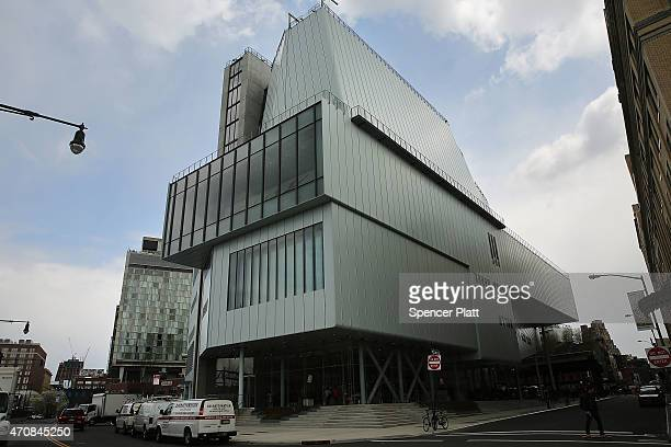 The new building housing the relocated Whitney Museum of American Art stands in Manhattan's meatpacking district on April 23 2015 in New York City...