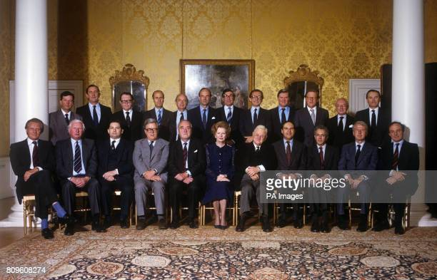 The new Cabinet of Mrs Thatcher's Conservative government Chief Whip Mr John Wakeham Agriculture Minister Mr Michael Jopling Chancellor of the Duchy...