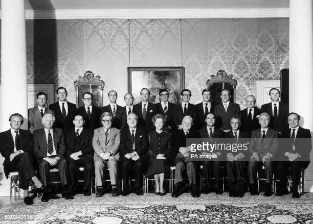 The new Cabinet of Mrs Thatcher's Conservative government *Standing from left Chief Whip Mr John Wakeham Agriculture Minister Mr Michael Jopling...
