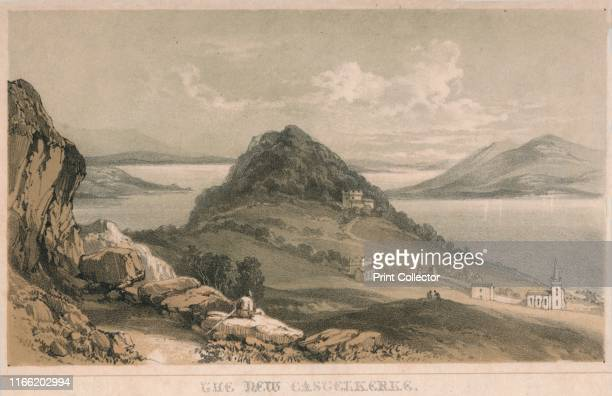 The New Castelkerke' circa 1850s View of Castlekirk on Lough Corrib a lake in Galway in the west of Ireland Landscape view possibly from an...