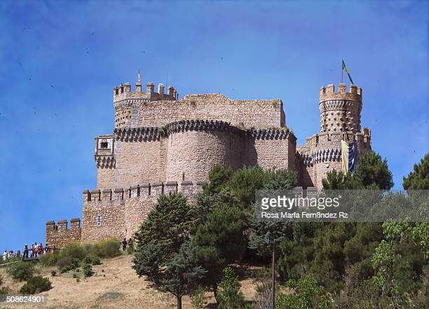 The New Castle of Manzanares el Real also known as Castle of los Mendoza is a palacefortress erected in the 15th century in the town of Manzanares el...