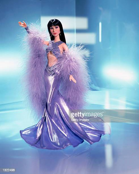 The new Cher doll designed by Cher''s long time friend Bob Mackie stands for a portrait June 18 2001 This is the first time in over 30 years that a...