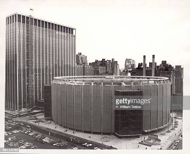 The new circular Madison Square Garden arena in New York, 21st February 1968.