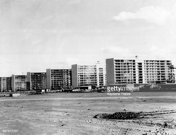 The new city of Brasilia is almost ended with 500 construction of low cost housings in Brasilia Brazil on February 9 1960