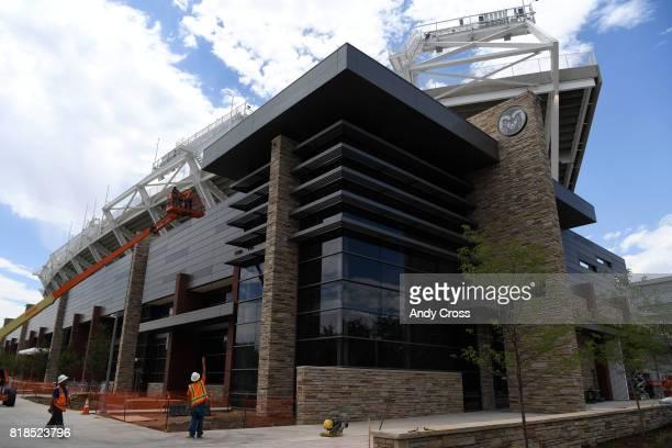The new Colorado State University oncampus stadium Iris and Michael Smith Alumni Center July 18 2017