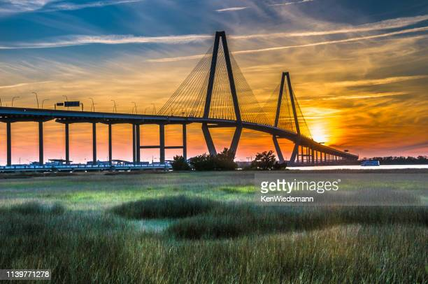 the new cooper river bridge - template_talk:south_carolina stock pictures, royalty-free photos & images