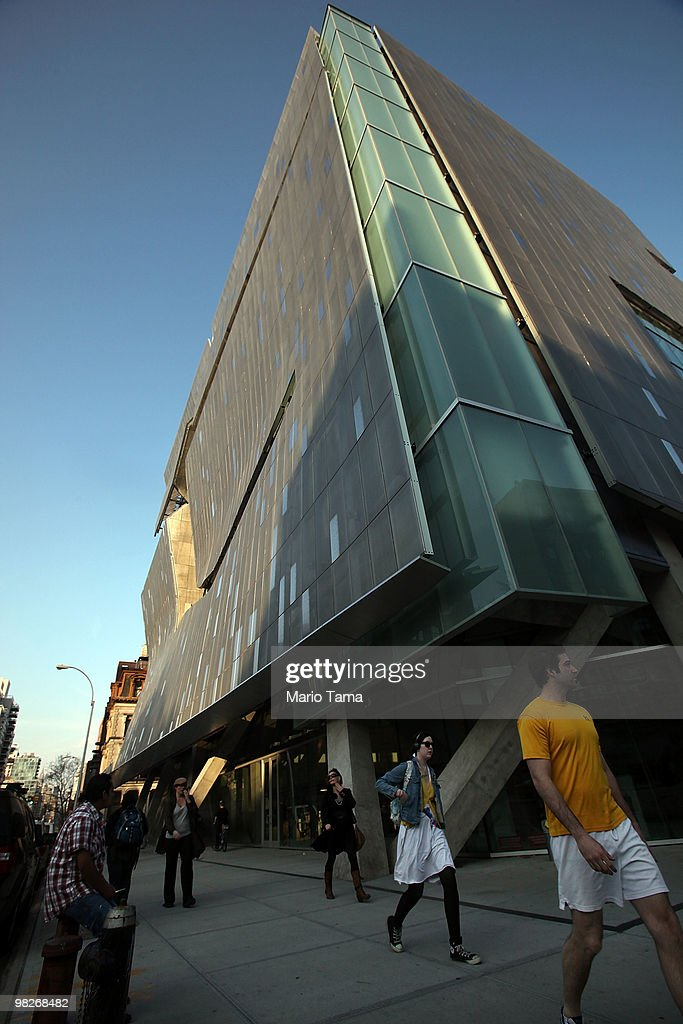 The new Cooper Union for the Advancement of Science and Art academic building is seen in Manhattan's Cooper Square April 5, 2010 in New York City. The modern glass and steel building with concave facade was designed by architect Thom Mayne of the Los Angeles-based Morphosis and is heralded as one of Manhattan's newest architectural marvels.
