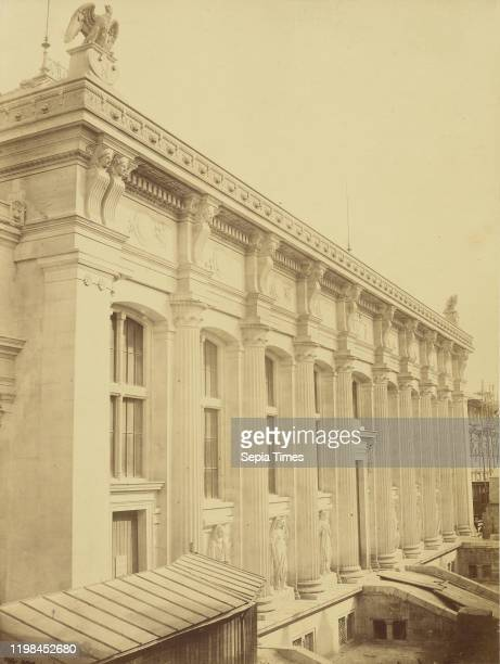 The New Courthouse Facade on Harlay Street by Duc Charles Marville Paris France 1860 1870 Albumen silver print