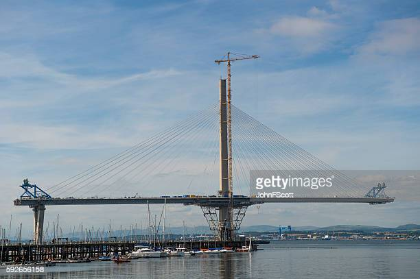 The new crossing over the Firth of Forth under construction