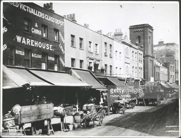 The New Cut Market at Lambeth London circa 18901900