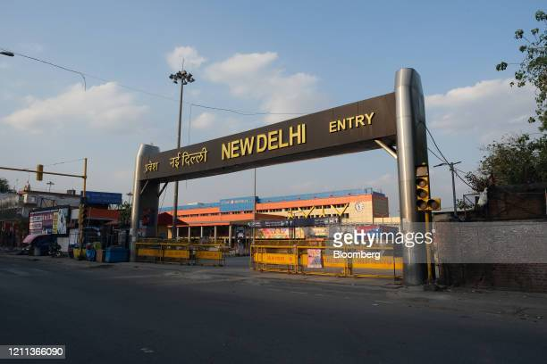 The New Delhi Junction railway station stands deserted during a lockdown imposed due to the coronavirus in Delhi, India, on Monday, April 27, 2020....
