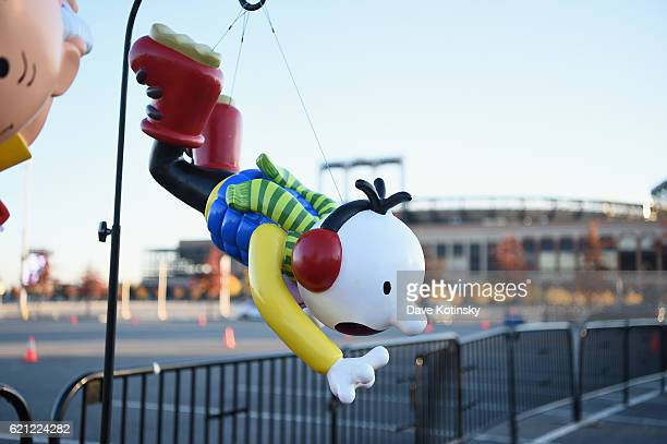 The new Diary of A Wimpy Kid balloon model on display at Macy's Balloonfest in preparation for the 90th Anniversary Macy's Thanksgiving Day Parade at...