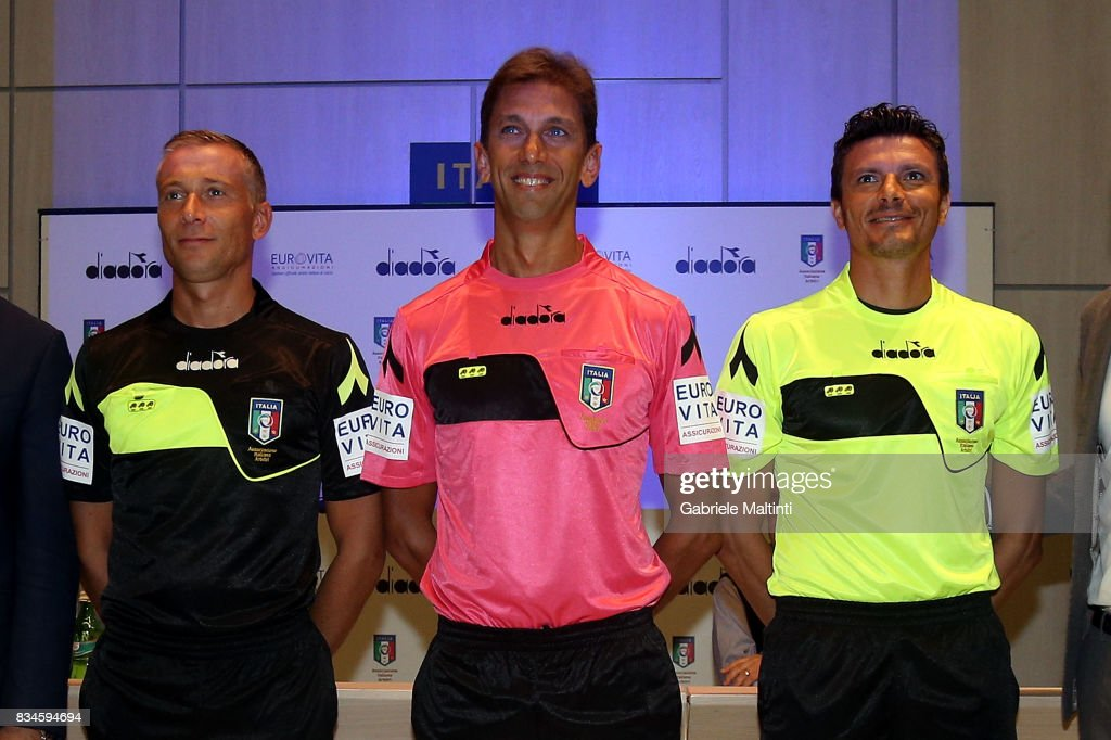 The new divisions of the referees for the 2017-2018 season at Coverciano on August 18, 2017 in Florence, Italy.