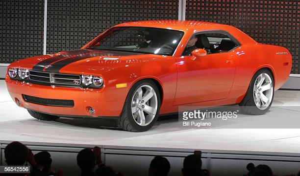 The new Dodge Challenger concept car is introduced to the media January 8 2006 at the 2006 North American International Auto Show in Detroit Michigan...