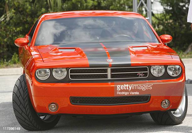 The New Dodge Challenger during Anthony Edwards Joins Daimler Chrysler at NASCAR to Unveil the New Dodge Challenger July 1 2006 at Daytona Speedway...