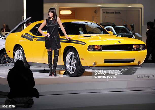 The new Dodge Challenger is displayed during the Los Angeles Auto Show on December 2 2009 in Los Angeles California The Los Angeles Auto Show will be...