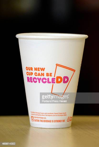 April 10: The new Dunkin Donuts coffee cup Friday, April 10, 2015.