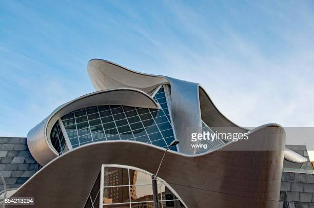 the new edmonton art gallery in churchill square - edmonton stock pictures, royalty-free photos & images