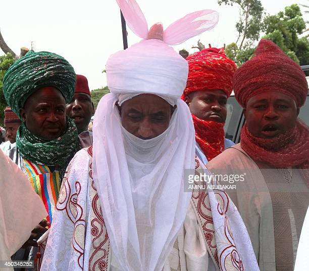 The new emir of the ancient northern Nigerian city of Kano and former Governor of Central Bank Sanusi Lamido Sanusi walks out of the Africa House...