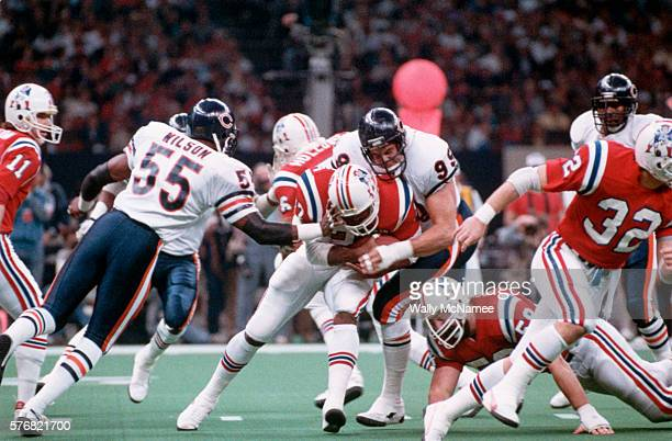 The New England Patriots play the Chicago Bears in the Super Bowl at the Louisiana Superdome The Bears defeated the Patriots