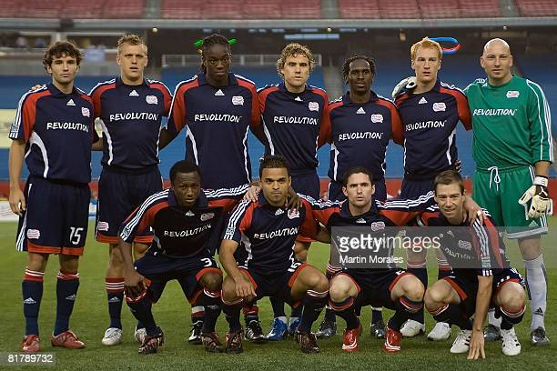 The New England Revolution starting eleven pose for a team photo prior to the game played against the Toronto FC at Gillette Stadium on June 28 2008...