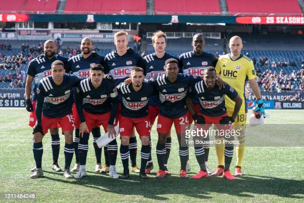 The New England Revolution team pose for a picture before the game between Chicago Fire and New England Revolution at Gillette Stadium on March 7...