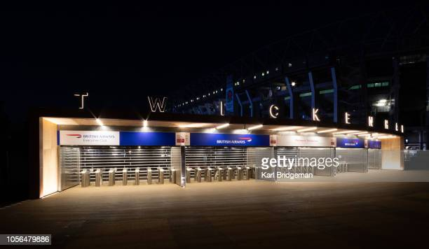 The new entrance to Twickenham Stadium from Whitton Road is pictured at Twickenham Stadium on November 2 2018 in London England The entrances...