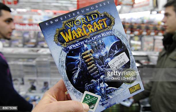 """The new extension of the """"World of Warcraft"""" video game is on sale in a shop in Darmstadt, western Germany, on November 13, 2008. Top video game..."""