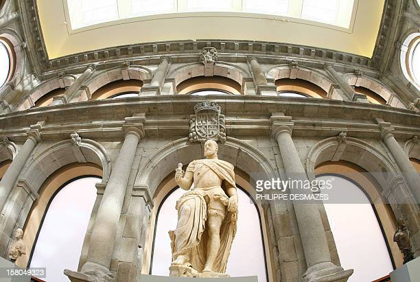 The new extension to Madrid's Prado museum the former cloister of the Jeronimos is open to the press prior to its inauguration next week by the...