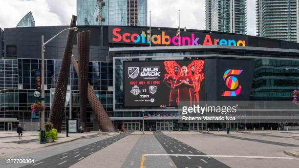 The new facade design of the Scotiabank Arena formerly Air Canada Centre.