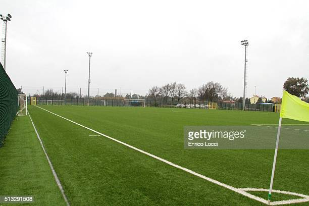 The new Federal Training Center is seen during the unveiling ceremony on February 29 2016 in Oristano Italy