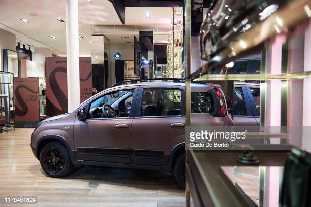 The new Fiat Panda Trussardi is seen during the Fiat Panda Trussardi Presentation on September 17 2019 in Milan Italy