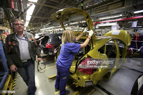 GERMANY SAARLOUIS The new Ford Focus car production at the production location in Saarlouis Germany